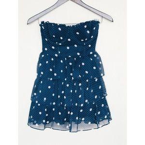 Abercrombie & Fitch Gauzy Polka Dot Ruffle Dress
